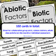 Ecosystems: Abiotic & Biotic Factors Card Sort