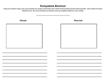 Ecosystems Brochure