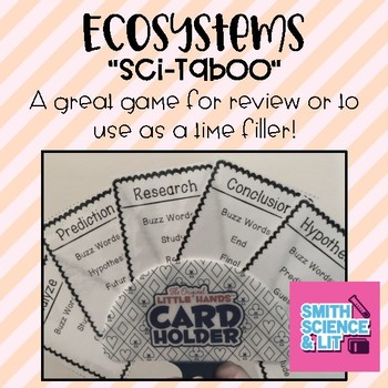 Ecosystems & Food Chains Vocabulary Taboo