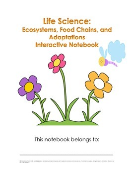 Ecosystems, Food Chains, and Adaptations Interactive Notebook