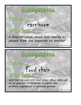 Ecosystems I Have... Who Has... / Ecosystem Vocabulary Gam