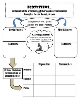 Ecosystems Notes Handout