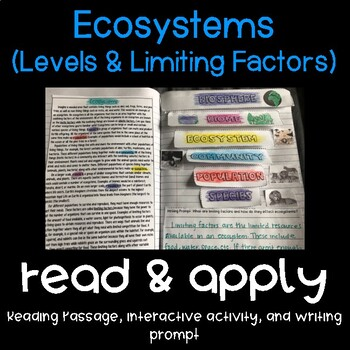 Ecosystems: Populations Reading Comprehension Interactive
