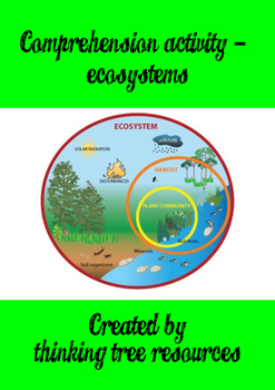 Ecosystems Reading Comprehension Activity