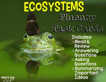 Ecosystems Reading Comprehension & Fluency Task Cards