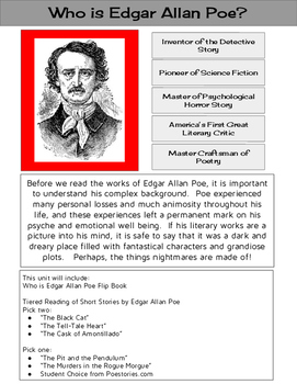 Edgar Allan Poe Layered Flip Book