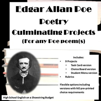 Edgar Allan Poe Poetry Culminating Projects (for any Poe p