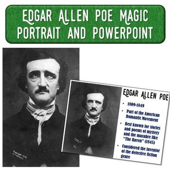 Edgar Allen Poe Magic Portrait Video & PowerPoint for Auth
