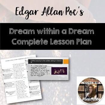 Edgar Allan Poe's A Dream Within a Dream- Lesson Pack
