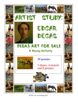 Edgar Degas Art for Sale:  A Differentiated Money Activity