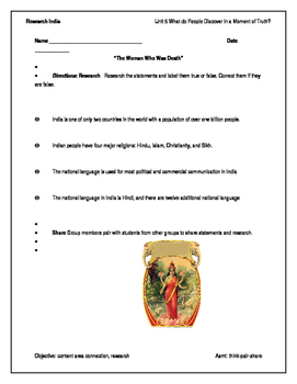 Edge Green page 481 Research India Worksheet