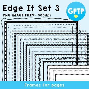 Edge It Set 3 -  Borders Great For Worksheet Edges!