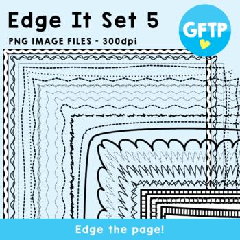 Edge It Set 5 -  Borders Great For Worksheet Edges!
