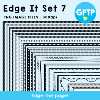 Edge It Set 7 -  Borders Great For Worksheet Edges!