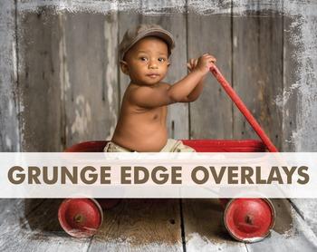 Digital Papers Edge Overlays Transparent Grunge Overlays