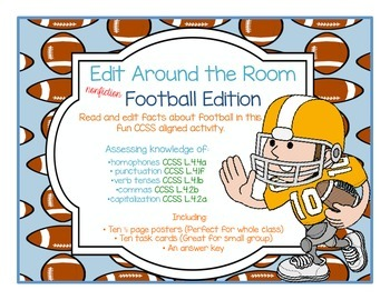 Edit Around the Room: Facts About Football! Nonfiction! Ed