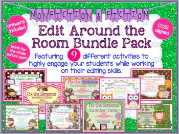 Edit Around the Room: Bundle of 9! Fiction/Nonfiction! Edi