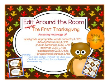 Edit Around the Room: The First Thanksgiving! Nonfiction!