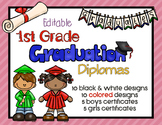 Editable 1st Grade Graduation Diplomas