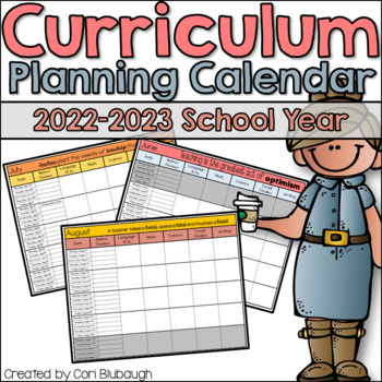Curriculum Planning Calendar 2016-2017 School Year