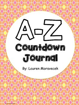 Editable A-Z Countdown Journal