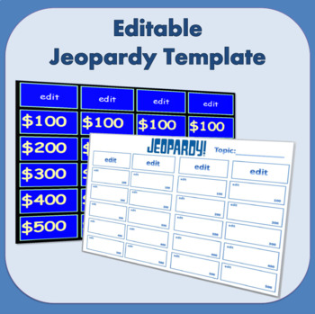 Editable ActivInspire Jeopardy Template