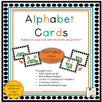Editable Alphabet Cards