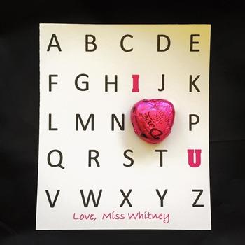 Editable Alphabet Valentines