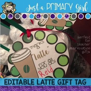 Editable Appreciation Gift Tag