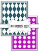 Editable Argyle And Dot Backgrounds