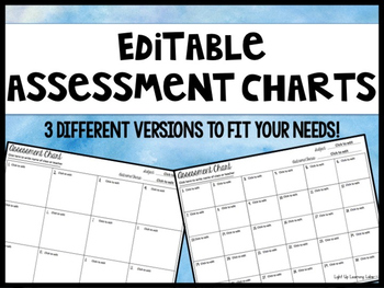 Editable Assessment Chart