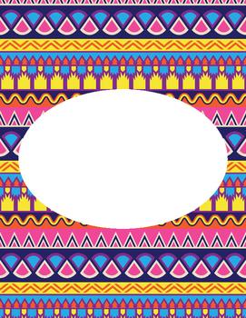 Editable Aztec Printable Binder Cover 2