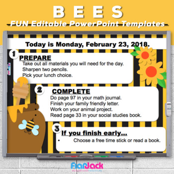 Editable BEES PowerPoint Templates