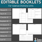 Editable BIG Science Stations Units Student Pages