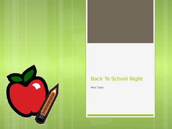 Editable Back To School Night PowerPoint