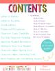 Editable Back to School Essentials