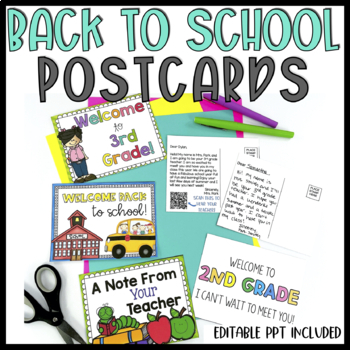 {Editable} Back to School Post Cards!