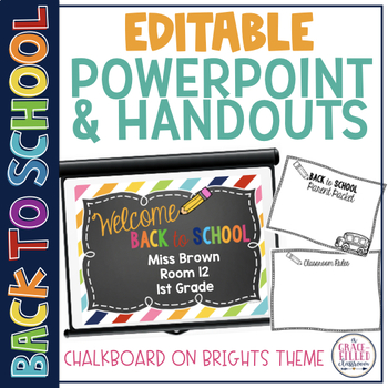 Editable Back to School: PowerPoint and Parent Handouts {C