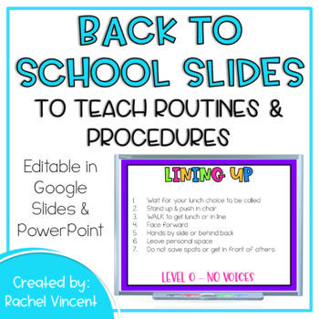 *Editable* Back to School Powerpoint Presentation {Black Version}