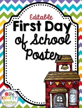 Rainbow Chevron Editable Back to School Sign - FREEBIE!