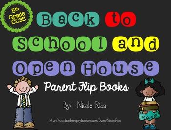 Editable Back to School/Open House Parent Flip Books - 5th