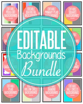 Editable Digital Paper Backgrounds Bundle