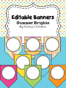 Editable Banner -Summer Brights