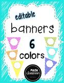 Editable Banners - Polka Dot FREEBIE