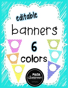 Editable Banners - Polka Dot FREEBIE
