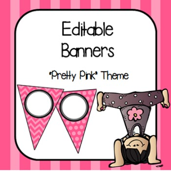 "Editable Banners- ""Pretty Pink"""