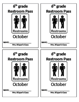 Editable Bathroom Passes
