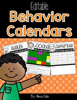 Editable Behavior Calendars
