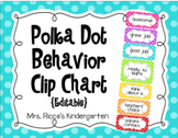 Polka Dot Behavior Clip Chart (Editable)