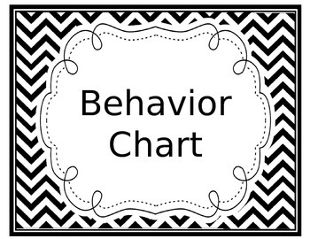 Editable Behavior Color Chart